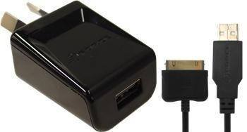USB Wall Adapter - Force 1A USB Wall Charger Adapter With Iphone 4/4s 30 Pin Cable WXU10A - Black