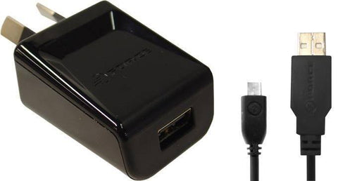 USB Wall Adapter - Force 1A USB Wall Charger Adapter With Micro USB 2.0 Cable WXU10M- Black