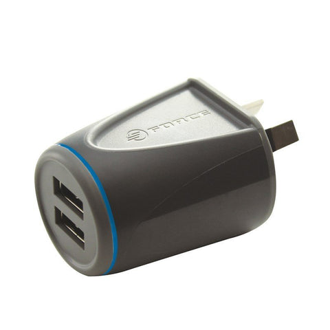 USB Wall Adapter - FORCE Dual Port USB Wall Charger Adpter 2.4A WXU24M