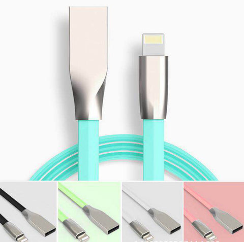 Cables, Adapters - 1m RKSync Fast Charging Lightning to USB Data Sync Charger Cable For iPhone 7/7 Plus/6/5, iPad Pro