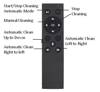 Digimansion® - Window Cleaning Robot, WinWipe Robot_Remote Controller