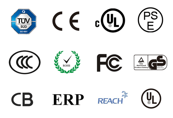 Certification Logos for Products: Customized - Device Cables: Power, Function & Compatibility