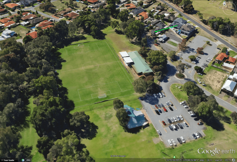 Opposite to Civilstock - Grindleford Reserve and Soccer Oval with Stadium
