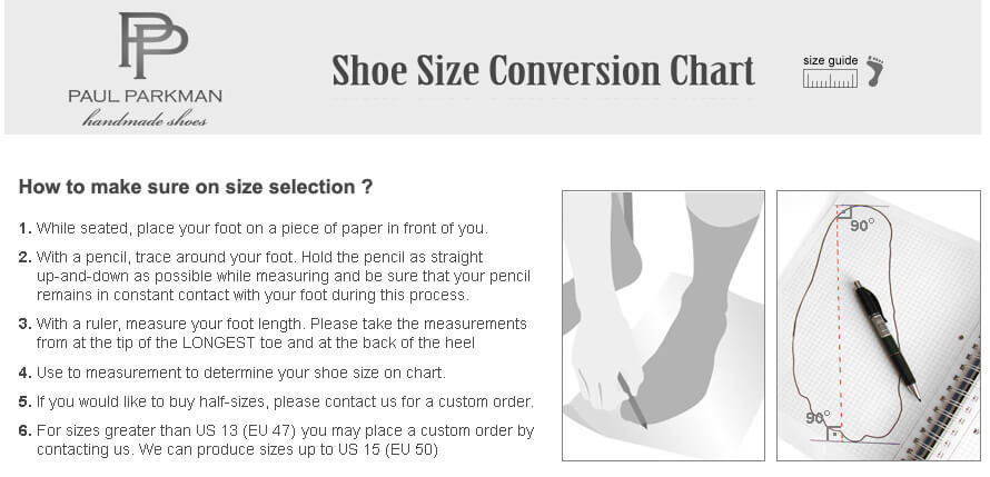 PaulParkman-SHOES_SIZE-INTRO_PIC&TEXT_INSTRUCTIONS