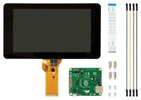Raspberry Pi® 7inch Touch Screen-Display-FRONT VIEW with PARTS