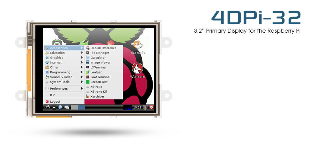 4D SYSTEMS  - Display Module, Raspberry Pi - 4DPI-32
