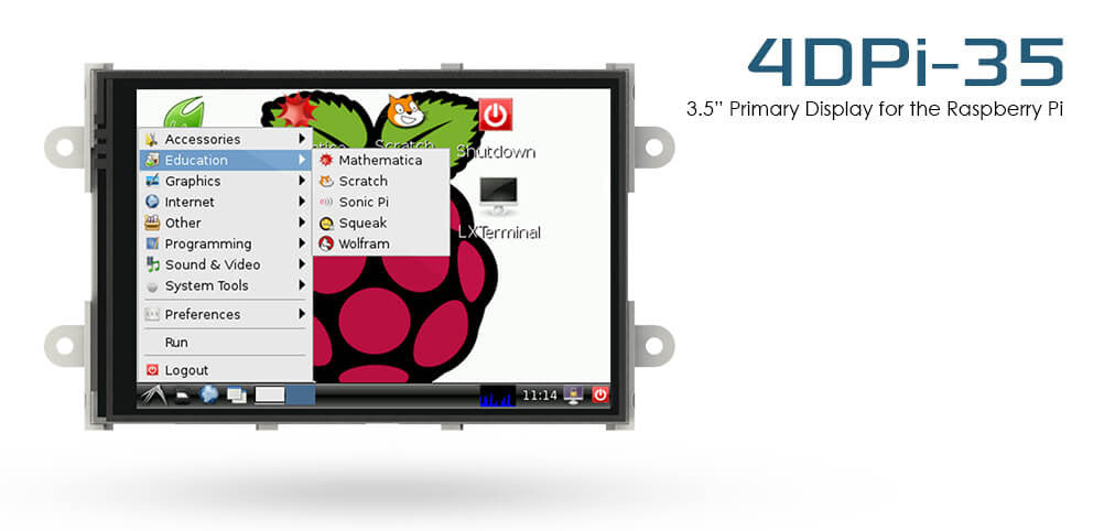 4D SYSTEMS - Display Module, Raspberry Pi - 4DPI-35