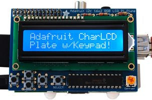 16x2 LCD + Keypad, Kits for Raspberry Pi®, 3 Types - Blue/White Only