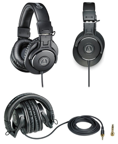 Audio Technica - Closed-Back Professional Studio Monitor Headphones Black, Headphones, Audio Technica, CIVILSTOCK