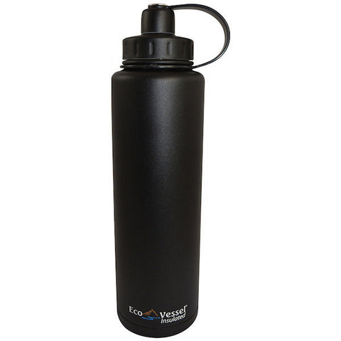 Eco Vessel® - BIGFOOT Triple Insulated Bottle 1330mL, Black Shadow