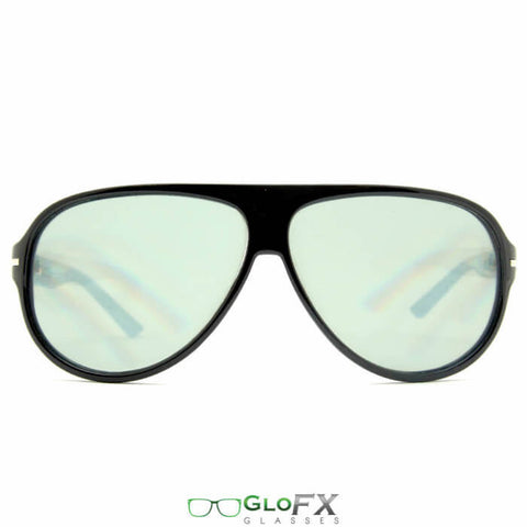 GloFX Tinted Aviator Diffraction Glasses front view