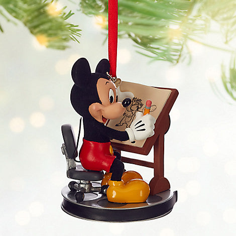 DISNEYSTORE-Mickey Mouse Animator Sketchbook Ornament-View1