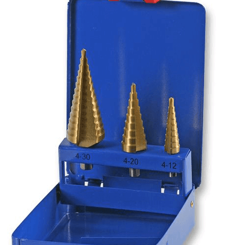 Duratool - Drill Bit Sets - 3pc 4-30mm Step