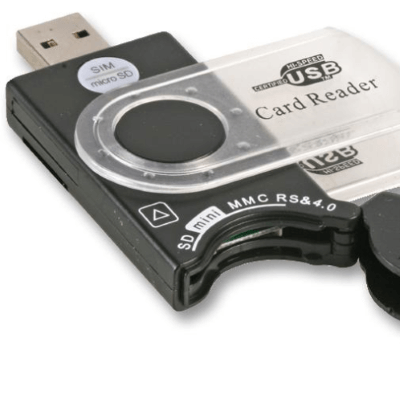 Dynamode® - USB2 Card Reader Mobile SIM and Memory Card, 9 Formats_ZOOM-VIEW