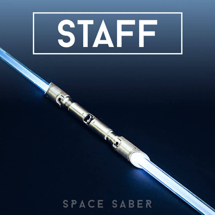 Customizable GloFX Space Saber – Staff, 36 Colour Modes