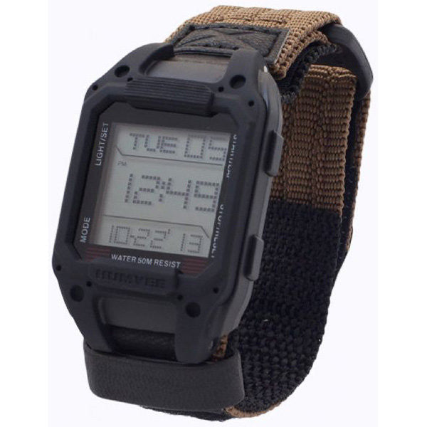 Humvee™ - Recon Digital Watch, Tan-Black