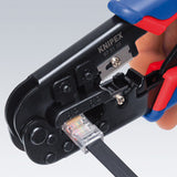 KNIPEX® - Crimping Pliers for Western plugs - RJ11-12 and RJ45 IN Use1