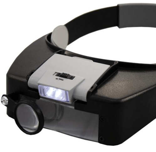 Linear Tools - Head Band Illuminated Magnifier, 1.5x-7.5x Magnification_ZOOM-VIEW