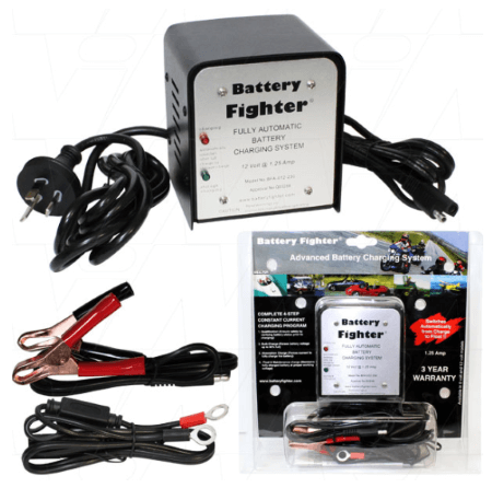 Master Series® Battery Fighter® - 12V 1.25A 4-stage Lead Acid Battery Charger_Official