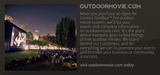 Open Air Cinema - Outdoormovie_International_Event_Website Partnership