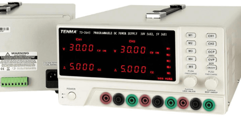 TENMA® - 3CH Bench Power Supply, 5V Fixed, 2 x 0-30V Variable