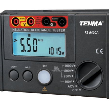 TENMA® - Electrical Insulation Resistance Tester 1kV, Digital_ZOOM-VIEW