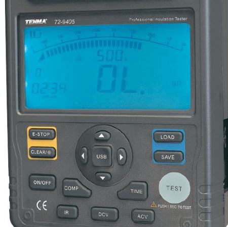 TENMA® - Electrical Insulation Resistance Tester 2.5kV, Digital_ZOOM-VIEW