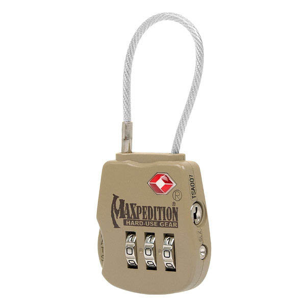 Tactical Luggage Lock, Khaki