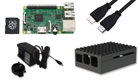 Raspberry Pi Project Kit - Black. Batgirl_PI approved development with selected accessories to START!
