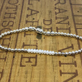 Pearl and Sterling Silver Bracelet with Magnetic Clasp