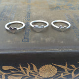 Sterling Silver Pinky Ring with Heart