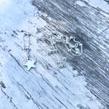 "Tiny Sterling Silver Star Necklace Delicate Sterling Silver Pretty Chain (18""/45cm)"