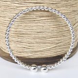 Sterling Silver Open Orb Bangle