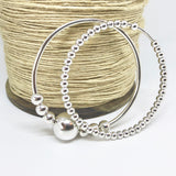 Chunky Sterling Silver Sliding Orbs Bangle Handmade