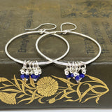 Lapis Lazuli Sterling Silver Hoop Earrings
