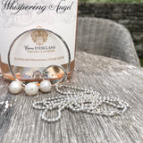 Long Sterling Silver Ball Chain Necklace - Sterling Silver Infinity Circle and Freshwater Pearls