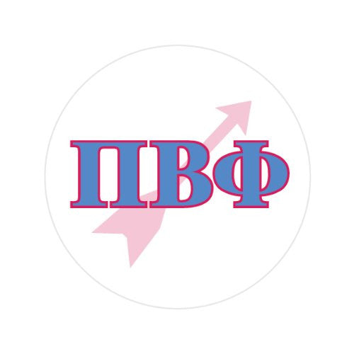 PI BETA PHI WITH SYMBOL Decorative Bathroom Sink Stopper Toppers