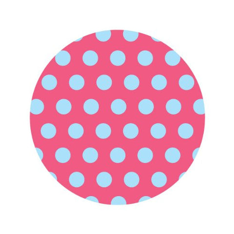 BLUE DOTS ON PINK Decorative Bathroom Sink Stopper Toppers