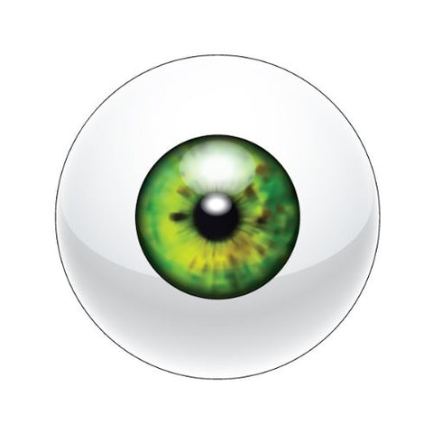 EYEBALL GREEN Decorative Bathroom Sink Stopper Toppers