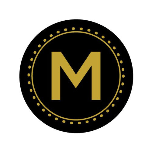 GOLD LETTER MONOGRAM - M Decorative Bathroom Sink Stopper Toppers