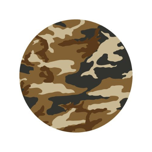 BROWN CAMOUFLAGE Decorative Bathroom Sink Stopper Toppers