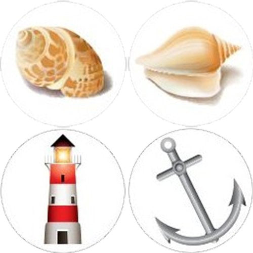 WATERSIDE Collection Decorative Bathroom Sink Stopper Toppers