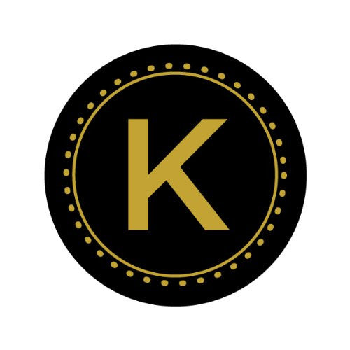 GOLD LETTER MONOGRAM - K Decorative Bathroom Sink Stopper Toppers