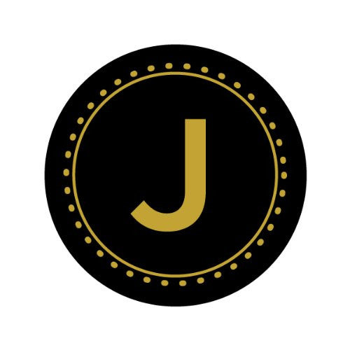 GOLD LETTER MONOGRAM - J Decorative Bathroom Sink Stopper Toppers
