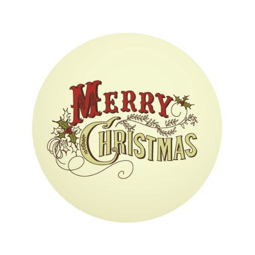 MERRY CHRISTMAS TEXT Decorative Bathroom Sink Stopper Toppers