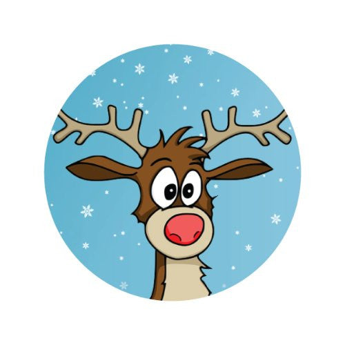 RUDOLPH IN THE SNOW Decorative Bathroom Sink Stopper Toppers