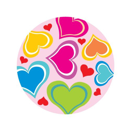 MULTI-COLOR HEARTS Decorative Bathroom Sink Stopper Toppers