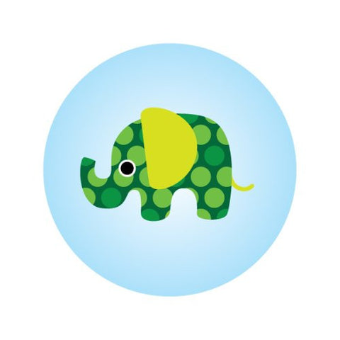 GREEN ELEPHANT ON BLUE Decorative Bathroom Sink Stopper Toppers