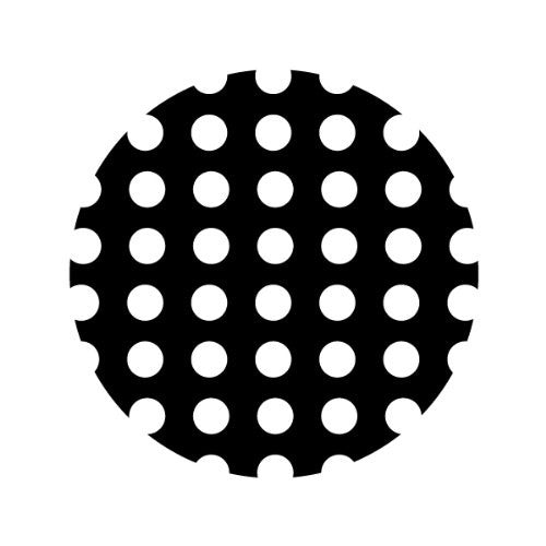 WHITE POLKA-DOTS ON BLACK Decorative Bathroom Sink Stopper Toppers