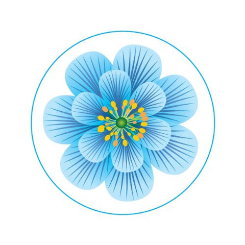 BLUE FLOWER Decorative Bathroom Sink Stopper Toppers